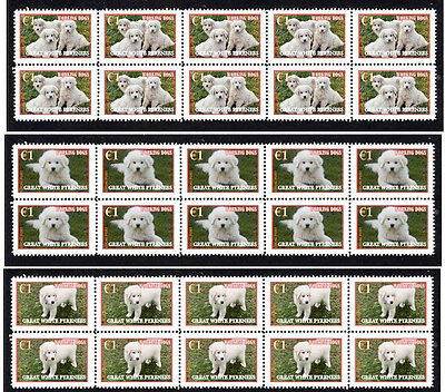 Great Pyrenees 'working Dogs' Set Of 3 Mint Stamps 2