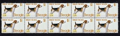 Beagle Year Of The Dog Strip Of 10 Mint Stamps 1