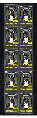 French Bulldog P/breed Dog Mint Strip Of 10 Stamps 4