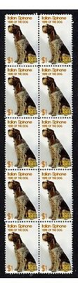 Italian Spinone Strip Of 10 Mint Year Of Dog Stamps 4