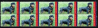 Rottweiler Year Of The Dog Strip Of 10 Mint Stamps 1