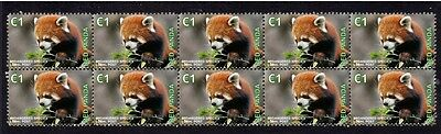 Red Panda Endangered Species Strip Of 10 Mint Stamps 3