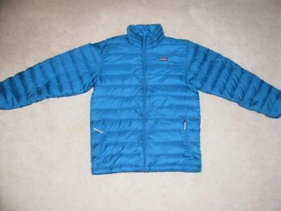 PATAGONIA Nano Puff Boys Large Down Jacket Blue Size 12 Coat Excellent