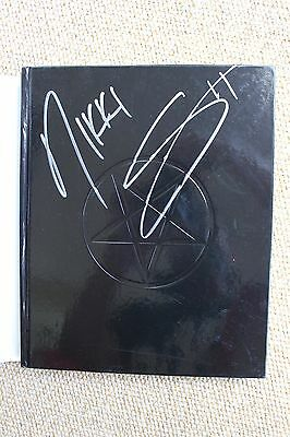 "Nikki Sixx Signed Autograph Book Motley Crue ""A Visual History"" The Final Tour"