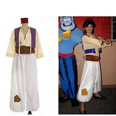US Ship! Halloween Party Aladdin and His Wonderful Lamp Prince Cosplay Costume