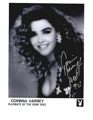 Corinna Harney Playboy Model Signed 8x10 Photo Playmate of Year 1992 Auto #2