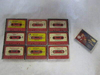 VINTAGE LOT OF 1970's WALT DISNEY STORYTELLER TAPES + Beauty and the Beast tape