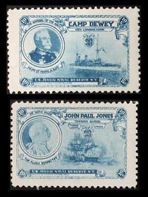"Lot of 2 1910's ""John Paul Jones Training Center"" Fundraising Stamps"