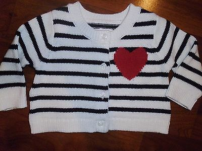 0 3 12 18 M BABY GAP LOVE Ivory Red Heart Cardigan Sweater Outfit New KIDS NWT