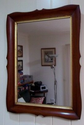 Antique Rosewood Framed Mirror , circa late 1800's