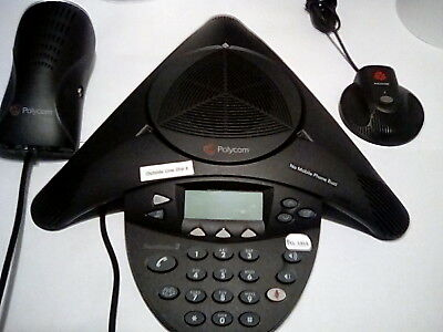 POLYCOM SOUNDSTATION 2 CONFERENCE SYSTEM With Ex MICROPHONE & WALL MODULE