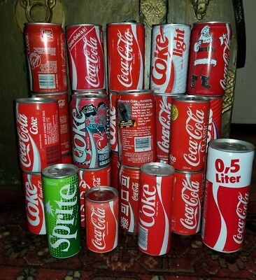 27 Coca Cola Coke cans, Germany, Holland, Taiwan, Swterland, Sprite, Spain, USA