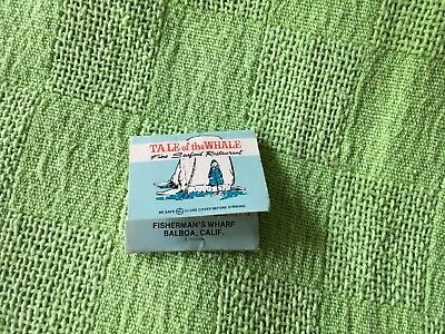 Collectable match boxe-Tale of the Whale-California-Good condition