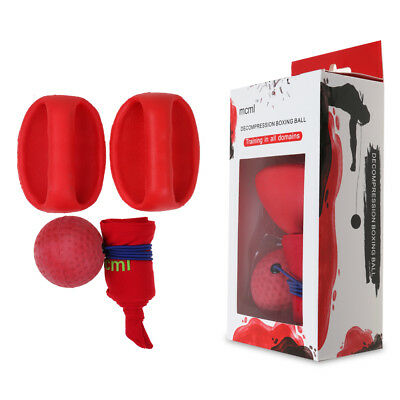 Boxing Punch Exercise Fight Ball w/Head Band For Reflex Speed Training Tools Red