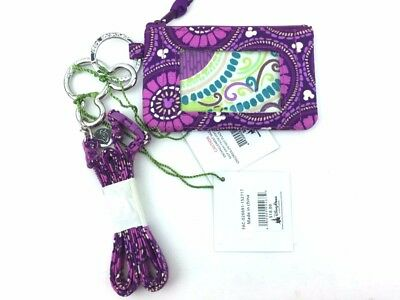 New with tags Vera Bradley Zip ID Case and Lanyard in Disney Plums Up Mickey