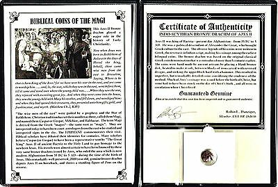 ANCIENT Biblical Coin of The Magi,Bronze,35 BC-5 AD,With Album & Certificate