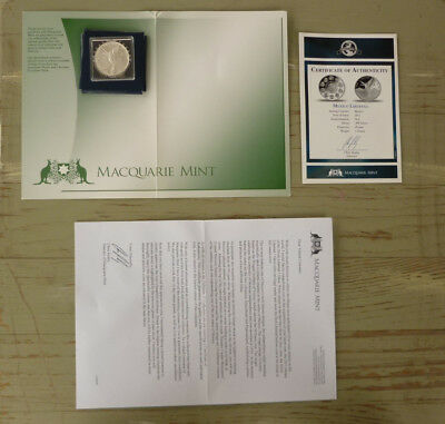 Macquarie Mint Commemorative Proof Sterling Silver Coin, Mexico Libertad