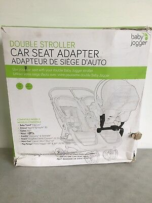 NEW CITY MINI DOUBLE /GT CAR SEAT ADAPTER BY BABY JOGGER BJ90223 (scratches)