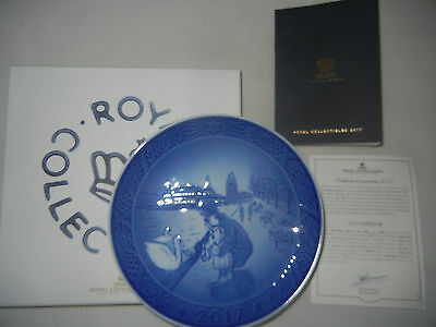 Royal Copenhagen Christmas Plate 2017+Original Package+CERTIFICATE