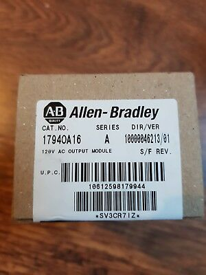 Allen Bradley 1794-OA16 Series A Output Module New in box.Factory sealed