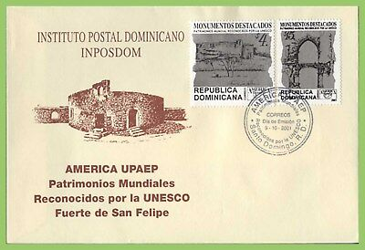 Dominican Republic 2001 America. UNESCO World Heritage Sites First Day Cover