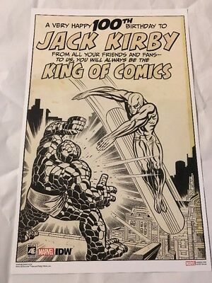 Jack Kirby Fantastic Four IDW SDCC 2017 exclusive 100th Birthday art print NYCC