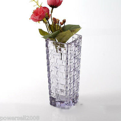 Classic Household Rural Style Crystal Glass Vase Dining-Table Wedding Usable NN
