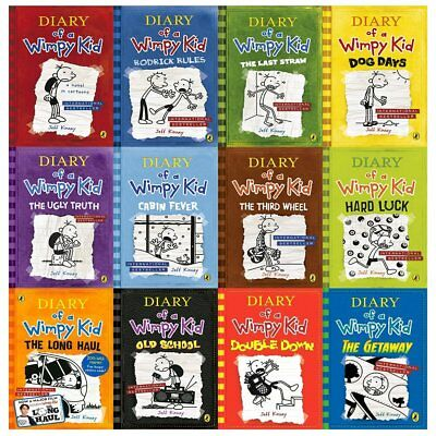 Diary of a wimpy kid box set collection 12 books new 2018 1779 diary of a wimpy kid collection 12 books set the getaway double downold solutioingenieria Choice Image