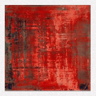 Gerhard Richter  Abstract 100x90 cm  STAMPA ROLLED CANVAS PRINT TOILE LIENZO