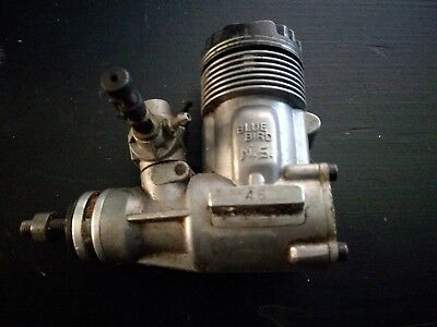 Vintage Blue Bird Ns 46 Model Plane Engine