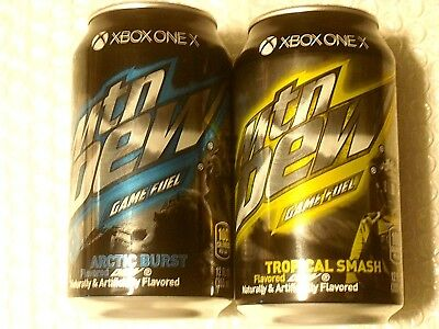 FULL Can MTN MOUNTAIN DEW GAME FUEL ARCTIC BURST & TROPICAL SMASH XBOX ONE 2017