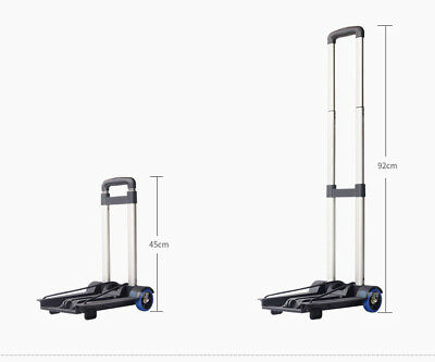 D41 Rugged Aluminium Luggage Trolley Hand Truck Folding Foldable Shopping Cart