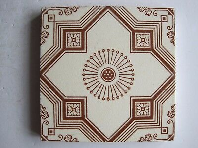 Antique Victorian Mintons Aesthetic Transfer Print Wall Tile C1885