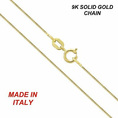 Genuine brand new 9K Solid Yellow Gold Chain Necklace 45 - 80 cm Made in Italy