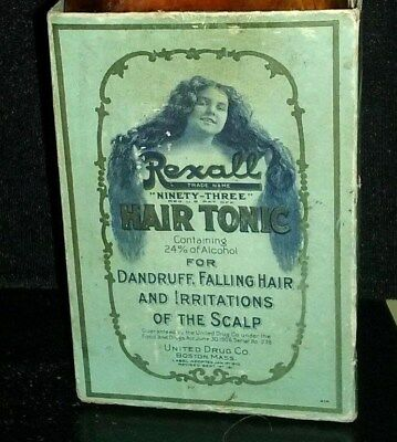 Antique Hair Bottle: Rexall Huge Counter Display W/crown Top, Scalp Barber Tonic
