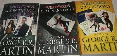 Lot of 3 Wild Cards Books Edited by George RR Martin Ace in the Hole, etc S5