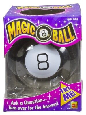 New Original Magic 8 Eight Ball Answers Mattel Lucky Billiard Toy Vintage Fun