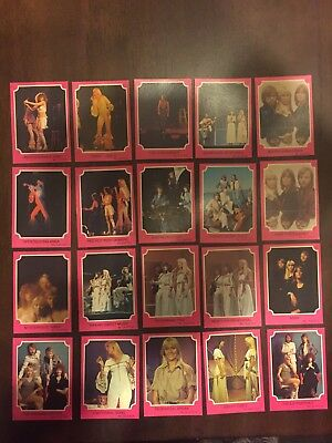 """1976 """"ABBA - Series A Pink Set. 20 Cards In Total. (Numbers are in description)"""