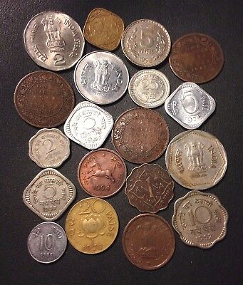 Old India Coin Lot - 1919-PRESENT - 19 VINTAGE Collectible Coins - Lot #N18