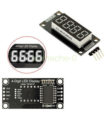 "1X White 0.56"" inch  TM1637 4-Bits Digital LED Clock Tube Display for Arduino M8"