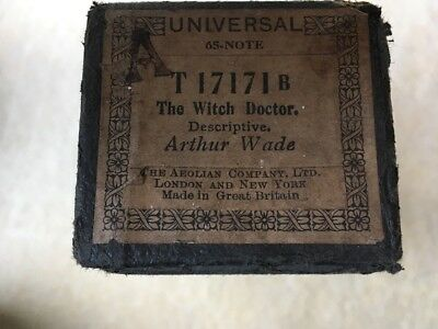 Pianola Roll Universal 65 Note The Witch Doctor Arthur Wade