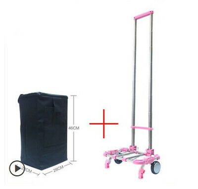 D51 Rugged Aluminium Luggage Trolley Hand Truck Folding Foldable Shopping Cart