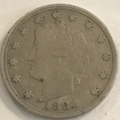 1883 V Nickel With No Cents In About Very Fine Condition W66