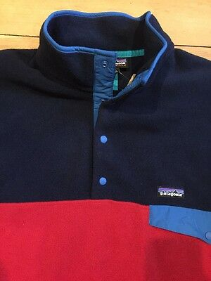 NEW PATAGONIA LIGHTWEIGHT SYNCH SNAP T Raspen Red FLEECE MENS  XXL PULLOVER NWT!