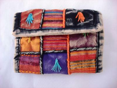 New - Cotton Hand Embroidered Wallet  Made In Nepal