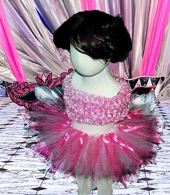 Breast Cancer Awareness Baby's Breath Pink Tutu Skirt Many Sizes