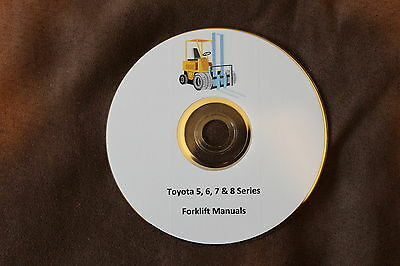 Toyota Electric Gas and Diesel Forklift Service and Part Manual 5-6 7 & 8 Series