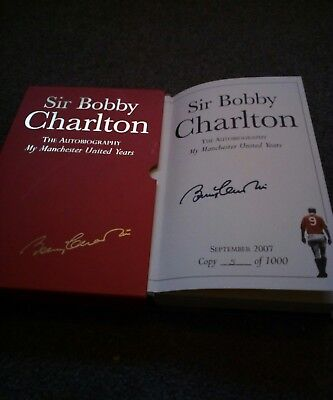 Signed Sir Bobby Charlton, My Manchester united years,  limited edition, 5/1000