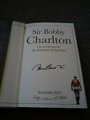 Signed Sir Bobby Charlton, My Manchester united years,  limited edition, 4/1000