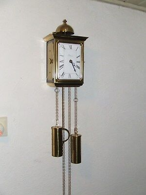 Rare DUTCH 8 days Wall Clock Enamel Dial,Franz Hermle Movement Bell Chime.